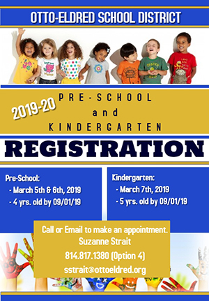 2019-20 Pre-School and Kindergarten Registration