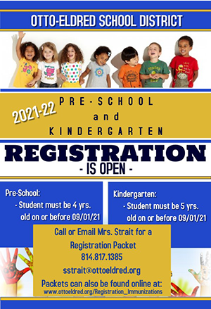 PreK and Kindergarten registration