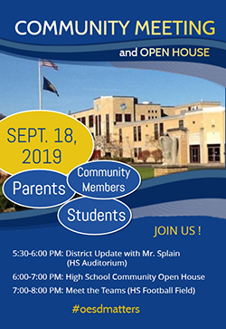 Community Meeting and Open House flyer