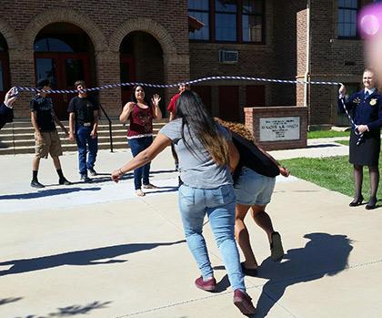 Students Jump-roping