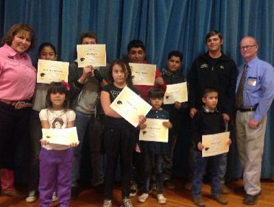 November student ROAR award winners and staff