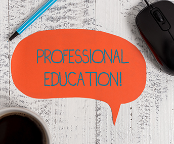 Comment bubble with Professional Education inside bubble