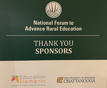 National Forum to Advance Rural Education - THANK YOU SPONSORS