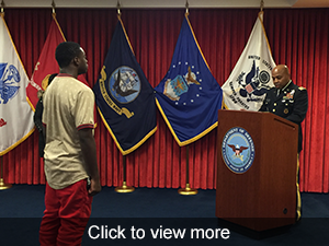 view photos of ROTC swearing in