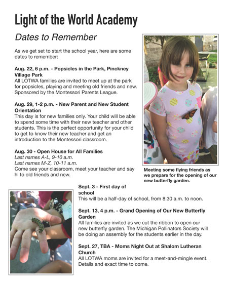 Dates to Remember Flyer