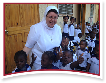 A sister with Haitian children