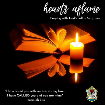 Apostles of the Sacred Heart of Jesus. Hearts Aflame praying with the scriptures. Young adults ages 18-35. Mondays on Zoom 8:00 PM ET / 7:00 PM CT. Email Sr. Angela at vocations@ascjus.org or go to ascjus.org. Were not our hearts burning within us while he talked with us on the road and opened the Scriptures to us? - Luke 24:32