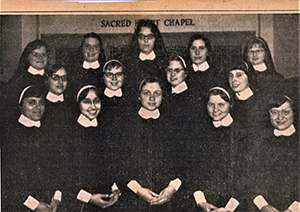 Sr. Susan (top left), shortly before entering the novitiate