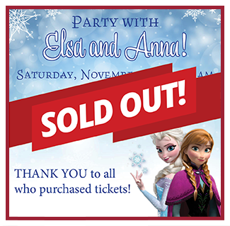 Party with Elsa and Anna Sold Out
