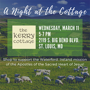 A Night at the Cottage - Shop to support the Wterford Ireland Mission of the Apostles of the Sacred Heart of Jesus!