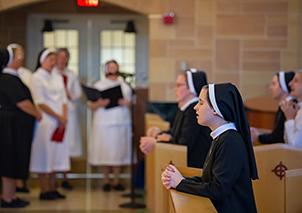 Nuns praying