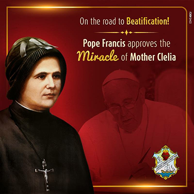 On the road to Beatification! Pope Francis approves the Miracle of Mother Clelia.