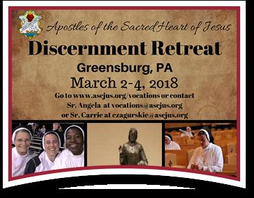 Discernment Retreat. St. Louis, MO. November 3-5, 2017. Go to www.ascjus.org/vocations