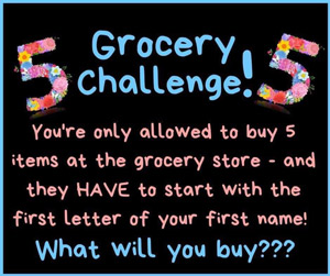 Grocery challenge flyer