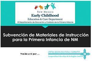 Subvención de Materiales de Instrucción para la Primera Infancia de NM