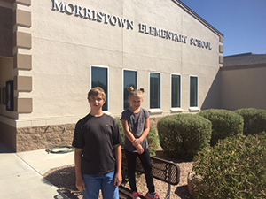 August students of the month, Zander Forman and Riley Smith