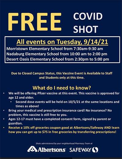 Free Covid Shot Flyer