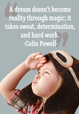 A dream doesn't become reality through magic; it takes sweat, determination, and hard work. - Colin Powell
