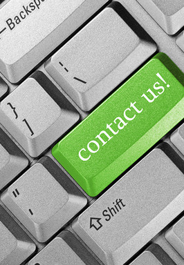 Contact us key on a computer keyboard