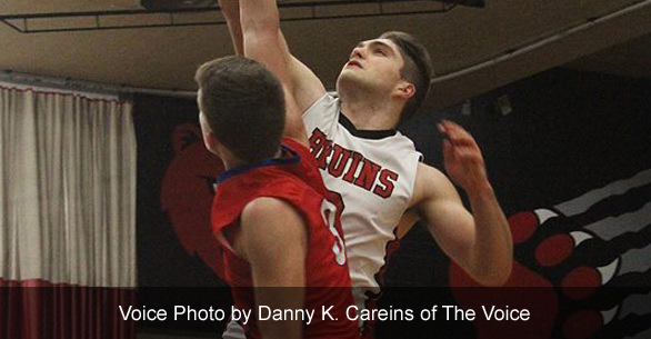 Basketball player Brandon Stroble. Voice photo by by Danny K Careins of The Voice