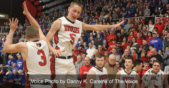 Two Bruins basketball players. Voice photo by by Danny K Careins of The Voice