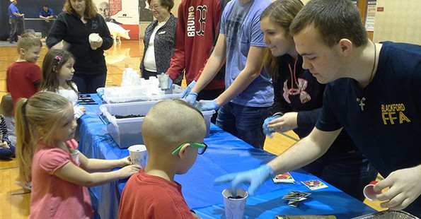 FFA Day - Students helping younger students
