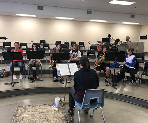 Jazz Band Practicing