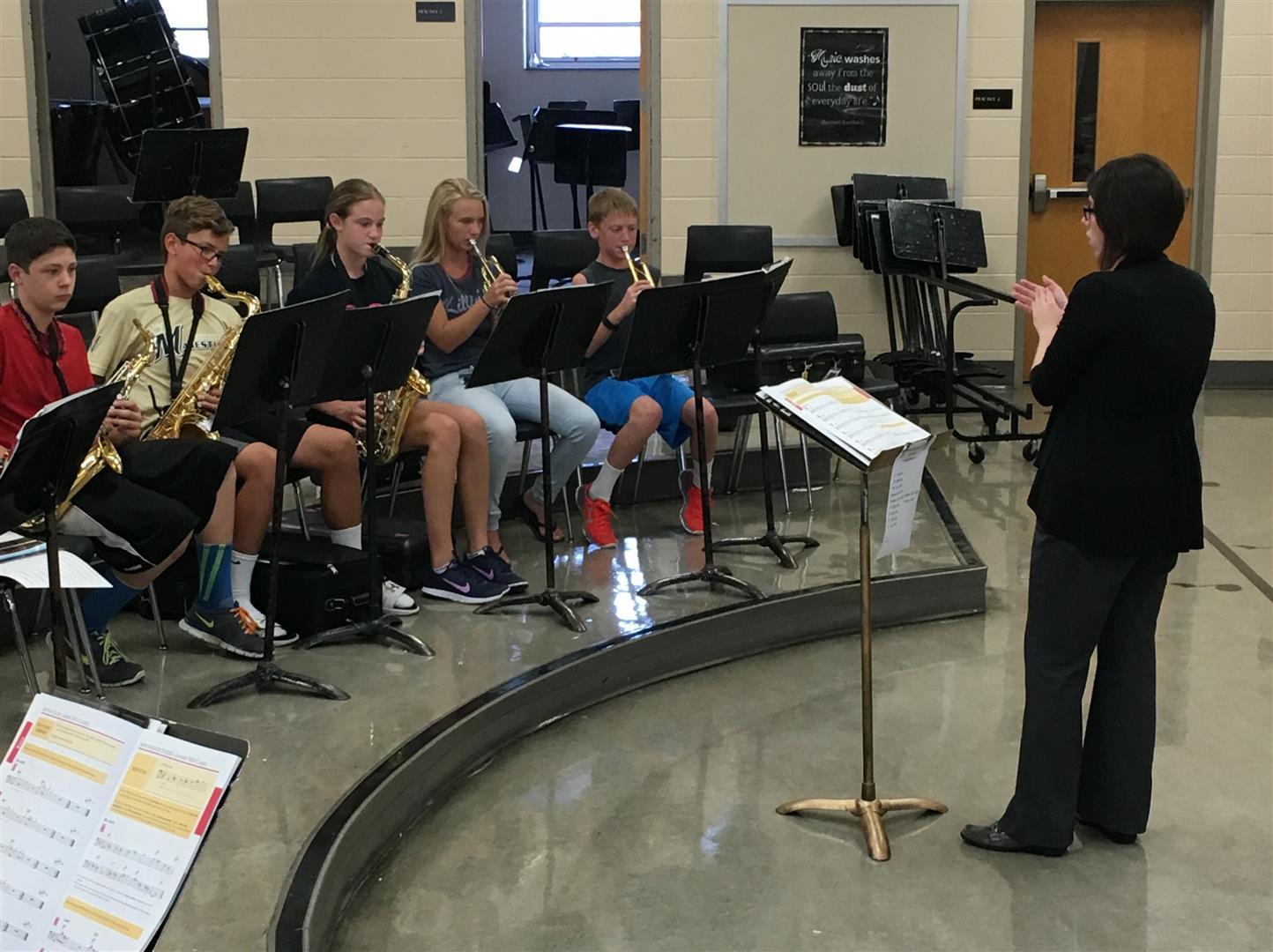Oour new band teacher, Mrs. Alvarado