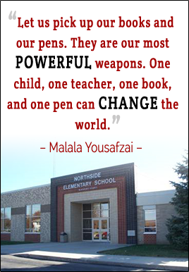 Let us pick up our books and our pens. They are our most Powerful weapons. One child, one teacher, one book, and one pen can Change the world. - Malala Yousafzai
