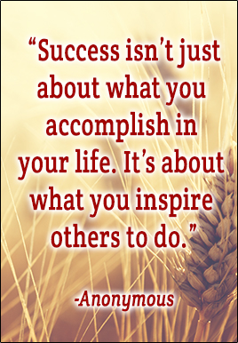 Success isn't what you accomplish in your life. It's about what you inspire others to do. - Anonymous