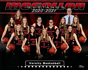 Varsity Girls Basketball Team 2020-2021