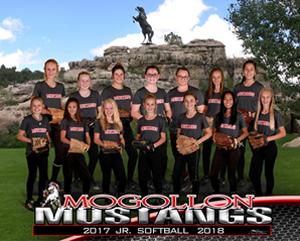 Junior softball team members pose together