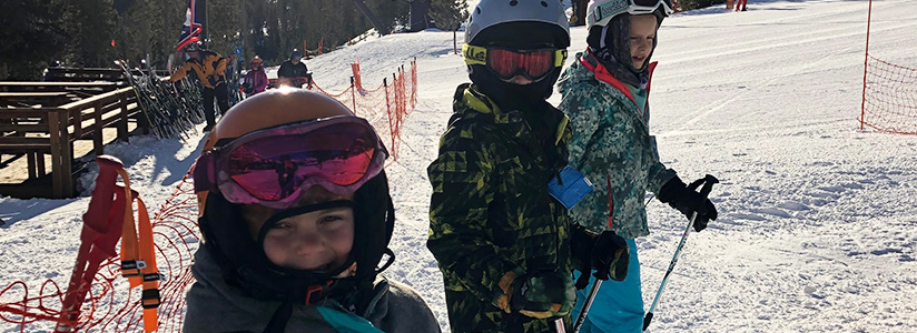 Valley students skiing on the slopes