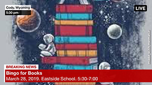 Breaking News - Bingo for Books - March 28, 2019 - Eastside School - 5:30-7:00 p.m.
