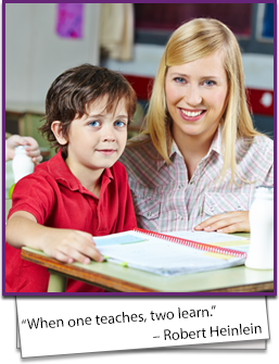 When one teaches, two learn. - Robert Heinlein