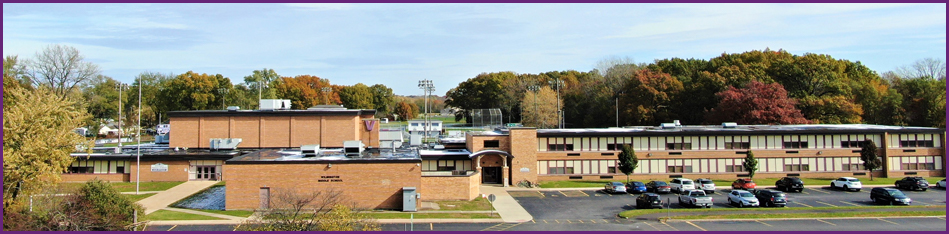 aerial view of the middle school
