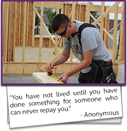 You have not lived until you have done something for someone who can never repay you. - Anonymous