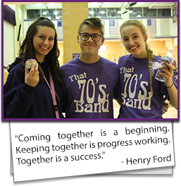 Coming together is a beginning. Keeping together is progress working. Together is a success. - Henry Ford