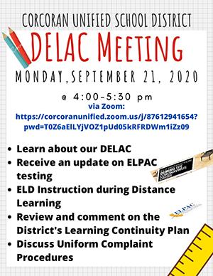 English DELAC Meeting info