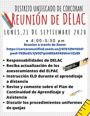 Spanish DELAC Meeting info