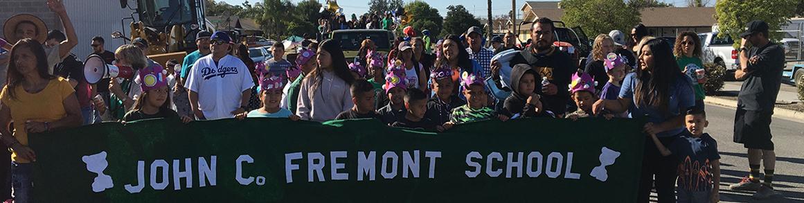 John C Fremont School parade banner