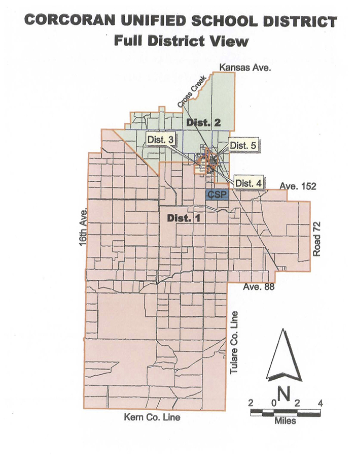 Corcoran Unified School District Maps