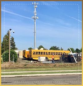 Corcoran USD school bus parking lot