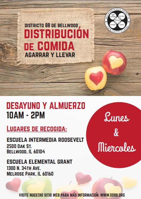 Grab-n-go program flyer Spanish