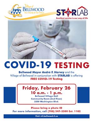 COVID - 19 Testing flyer English