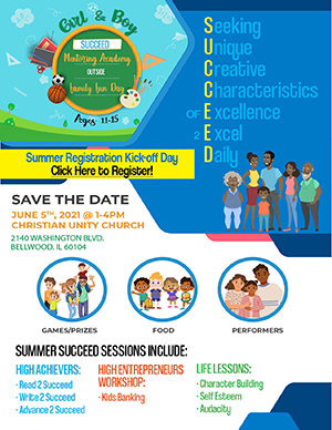 Succeed Mentoring Academy Summer Flyer in English