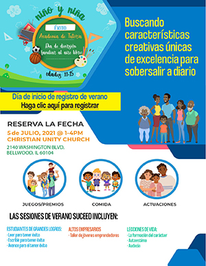 Succeed Mentoring Academy Summer Flyer in Spanish