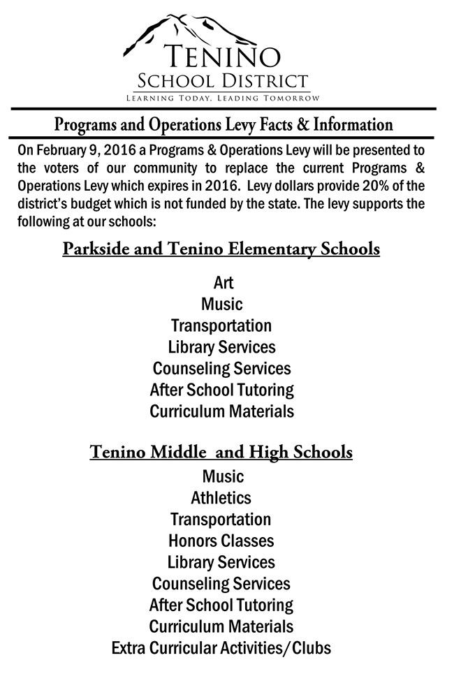Programs and Operations Levy Facts & Information