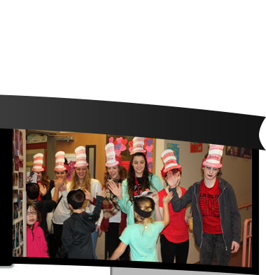 Students in Seuss hats