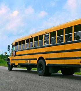 Schoolbus on a road